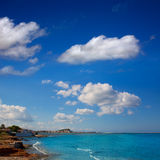 Denia las Rotas and Marineta Casiana beach at alicante Stock Photos