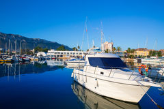 Denia marina boats in alicante Valencia Province Spain Stock Photos