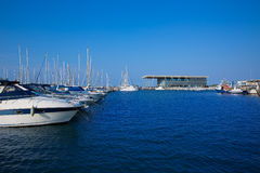 Denia marina boats in alicante Valencia Province Spain Royalty Free Stock Photography
