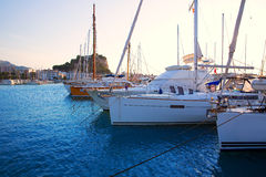 Denia marina boats in alicante Valencia Province Spain Royalty Free Stock Photo