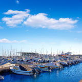 Denia marina port in Alicante Spain with boats Stock Images