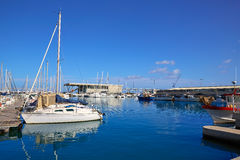 Denia marina port in Alicante of Spain Stock Photography