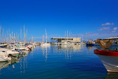 Denia marina port in Alicante of Spain Stock Photos