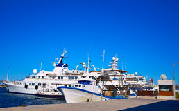 Denia marina Port in Alicante Spain Mediterranean Royalty Free Stock Photos