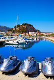 Denia marina Port and Castle in Alicante at Spain Royalty Free Stock Photos
