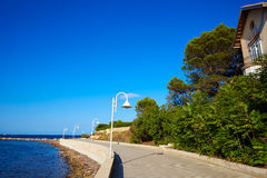Denia Marineta Casiana beach of Las Rotas Royalty Free Stock Image