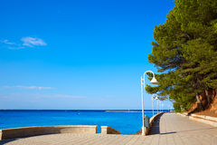 Denia Marineta Casiana beach of Las Rotas Royalty Free Stock Images