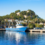 Denia mediterranean port village with castle Stock Photo