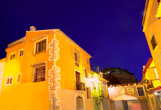 Denia old village sunset dusk in Alicante Spain Royalty Free Stock Image