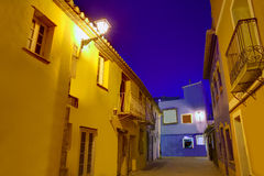 Denia old village sunset dusk in Alicante Spain Royalty Free Stock Photography