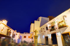 Denia old village sunset dusk in Alicante Spain Stock Photo