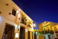 Denia old village sunset dusk in Alicante Spain Royalty Free Stock Photo