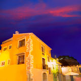 Denia old village sunset dusk in Alicante Spain Royalty Free Stock Images