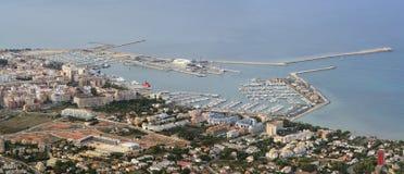 Denia port Arkivfoto