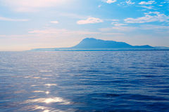 Denia San Antonio Cape and Montgo view from sea Royalty Free Stock Image