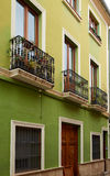 Denia street Loreto facades in Alicante spain Royalty Free Stock Image