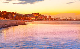 Denia sunset las Rotas in Mediterranean Spain Stock Photos