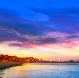 Denia sunset las Rotas in Mediterranean Spain Stock Image