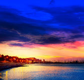 Denia sunset las Rotas in Mediterranean Spain Stock Photo