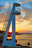 Denia sunset las Rotas in Mediterranean Spain Royalty Free Stock Photography