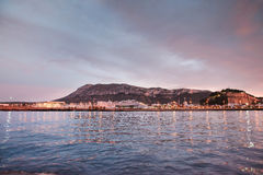 Denia sunset view from port Stock Photos