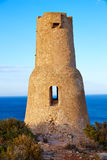 Denia Torre del Gerro tower in Las Rotas Spain Stock Photo