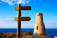 Denia Torre del Gerro tower in Las Rotas Spain Royalty Free Stock Image