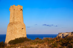 Denia Torre del Gerro tower in Las Rotas Spain Stock Images