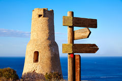 Denia Torre del Gerro tower in Las Rotas Spain Royalty Free Stock Images