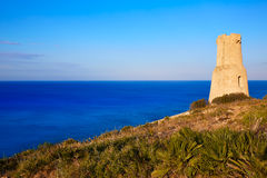 Denia Torre del Gerro tower in Las Rotas Spain Royalty Free Stock Photo