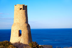 Denia Torre del Gerro tower in Las Rotas Spain Royalty Free Stock Photos