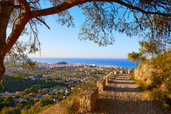 Denia track in Montgo mountain at Alicante Stock Image