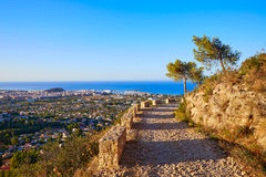 Denia track in Montgo mountain at Alicante Royalty Free Stock Photos