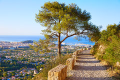 Denia track in Montgo mountain at Alicante Royalty Free Stock Photo