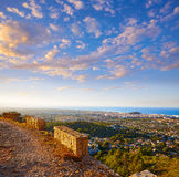 Denia track in Montgo mountain at Alicante Royalty Free Stock Images