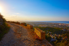 Denia track in Montgo mountain at Alicante Stock Photos