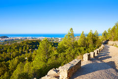 Denia track in Montgo mountain at Alicante Royalty Free Stock Photography
