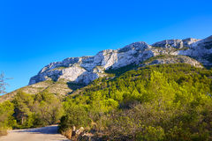Denia track in Montgo mountain at Alicante Stock Photography