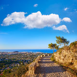 Denia track in Montgo mountain at Alicante Stock Photo