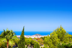 Denia village high view from Montgo Spain Stock Photos