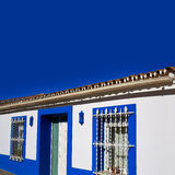 Denia Village medelhavs- fasader i Alicante Royaltyfri Foto