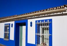 Denia Village mediterranean facades in Alicante Royalty Free Stock Photos