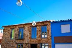 Denia Village mediterranean facades in Alicante Stock Photo