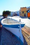 Denia Village mediterranean facades in Alicante Stock Images