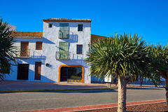 Denia Village mediterranean facades in Alicante Royalty Free Stock Images