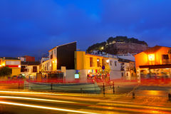 Denia village sunset in Alicante Spain Royalty Free Stock Images