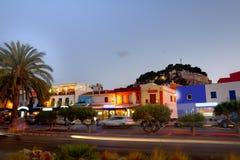 Denia wioski zmierzchu stary półmrok w Alicante Hiszpania obraz royalty free