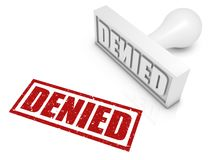 Denied. Rubber stamp. Part of a rubber stamp series Royalty Free Stock Photo
