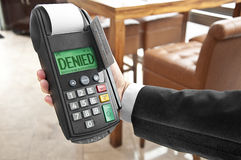 Denied credit card Royalty Free Stock Image