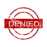 Denied ink stamp (vector) Stock Image